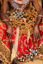 Kuba Elder Wearing Raffia Skirt, D.R.Congo