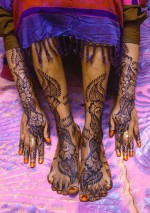 Swahili Brides Painted Arms and Legs, Lamu Island, Kenya