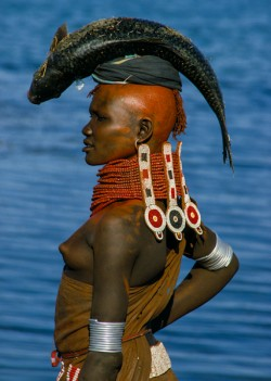 Turkana Woman with Beaded Collar, Kenya