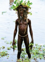 Dinka Boy with Water Narcissus Mask, South Sudan