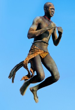 Leaping Dinka Dancer, South Sudan