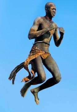 Leaping Dinka Dancer, South Sudan