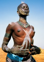Dinka Woman Dancing, South Sudan