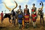 Dinka Family with Modern Dress, South Sudan
