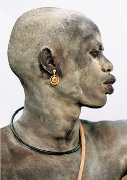 Dinka Man Covered in Ash, South Sudan