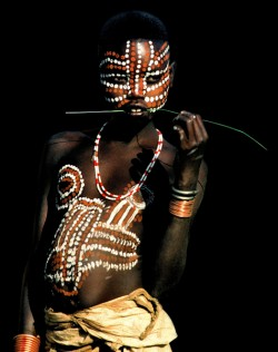 Surma Girl with Exotic Markings, Ethiopia