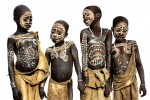 Four Young Surma  Friends, Ethiopia