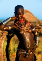 Karo Girl with Patterend Stomach, Ethiopia