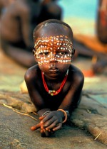 Surma Child with Beaded Necklace, Ethiopia