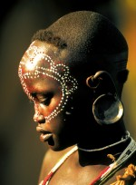 Surma Girl with Lacy Face Paint, Ethiopia