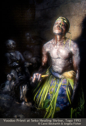 Voodoo Priest at Seko Healing Shrine, Togo