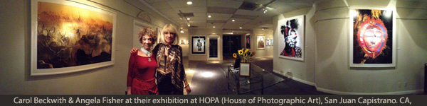 Carol & Angela at their exhibition at HOPA Gallery (House of Photographic Art