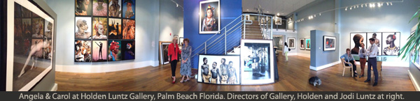 A panaroma view of Angela & Carol at Holden Luntz Gallery, Palm Beach