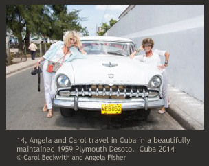 Carol Beckwith & Angela Fisher tour Cuba in vintage car