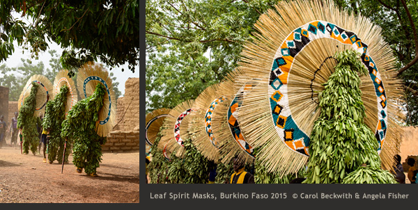 Burkino Faso Leaf Spirit Masks by Carol Beckwith & Angela Fisher