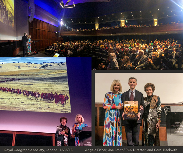 African Twilight lecture at the Royal Geographic Society, London