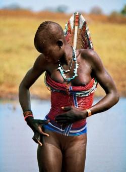 Dinka Woman in Corset, South Sudan