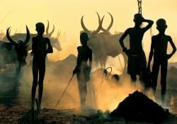 Dinka Children in Cattle Camp, South Sudan