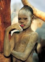 Dinka Boy Touching Tongue, South Sudan