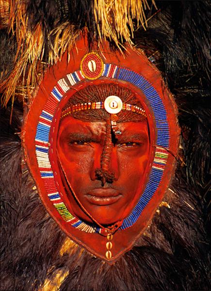 Maasai Warrior With Red Ochre Face Paint Kenya Carol Beckwith Amp Angela Fisher