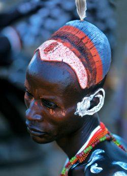 Karo Man with Painted Hair, Ethiopia
