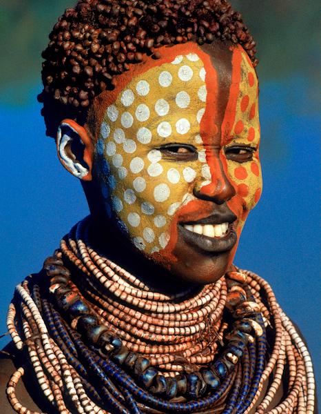 African Warrior Face Paint