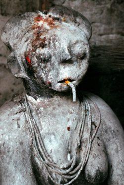 Female Fetish Figure in Voodoo Healing Shrine